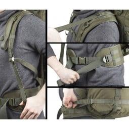Savotta Grenzjäger Rucksack Beispielbilder Einstellungen am Rucksack vornehmen