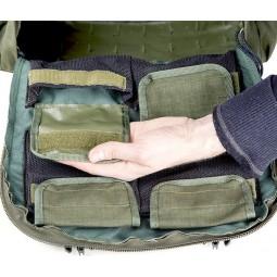 Savotta LJK Modular Rucksack kleine Tasche am Bodenfach geöffnet