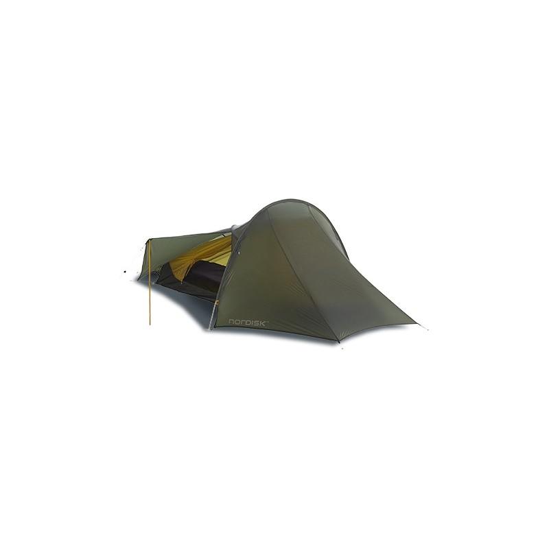 Nordisk Lofoten 1 ULW Zelt mit aufgesteller Tür