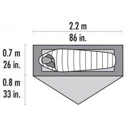 MSR Carbon Reflex 1 Abmessungen Liegefläche