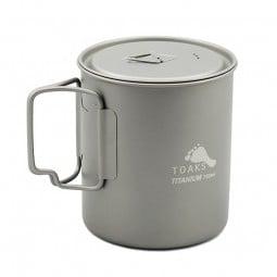 Toaks Titanium 750 ml Topf mit Klappgriffen