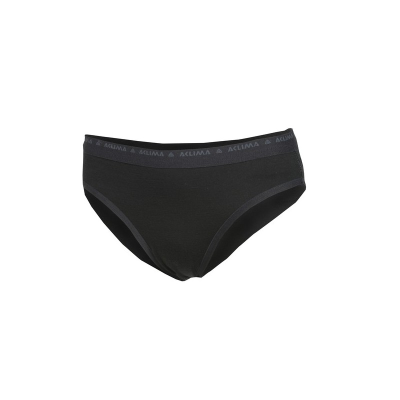 Aclima Lightwool Briefs Woman Schwarz