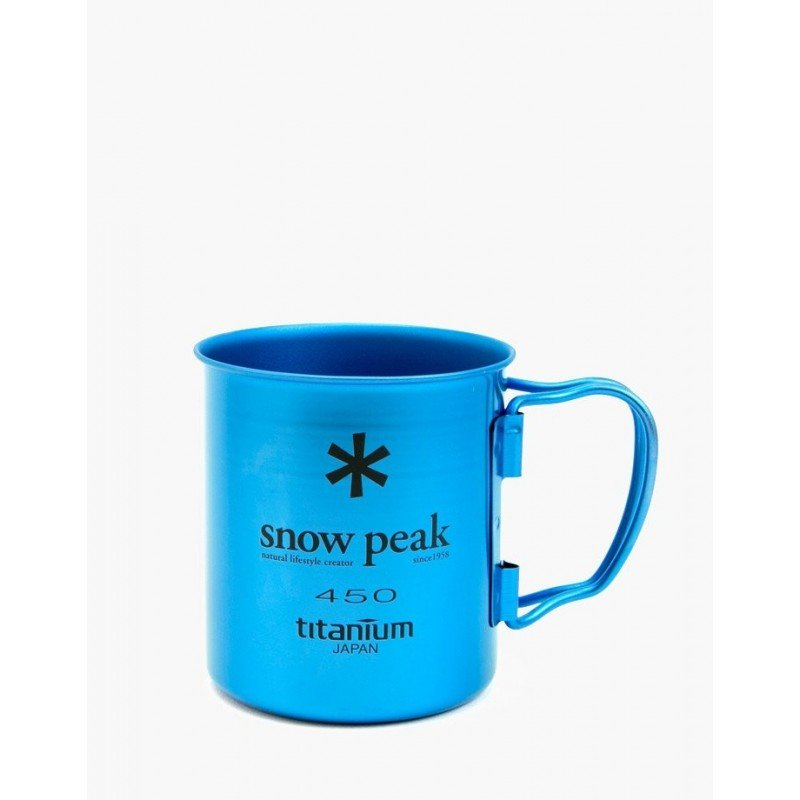 Snow Peak Ti-Single 450 Cup Silber Blau