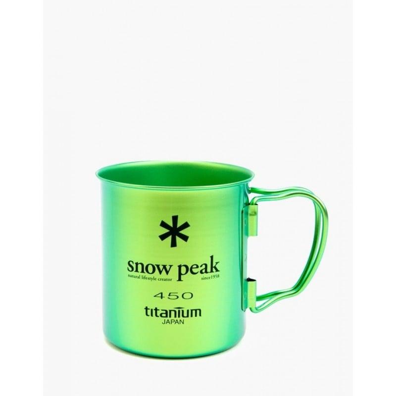 Snow Peak Ti-Single 450 Cup Silber Grün