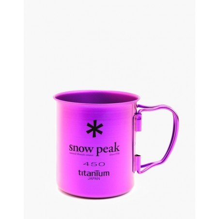 Snow Peak Ti-Single 450 Cup Silber Lila