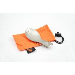 Toaks Titanium Folding Spork gefaltet mit Packsack