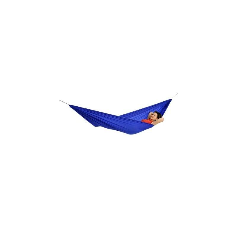 Amazonas Travel Set Hängematte - AZ-1030250 - Blau - preiswertes Komplett-Set mit Haken und Seilen inklusive