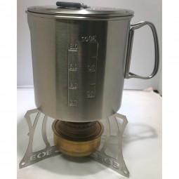 EOE Kyll FE Kocherstand mit Trangia Brenner und Solo Stove 900 Pot (Brenner und Topf nicht im Lierferumfang enthalten)