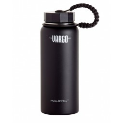 Vargo Stainless Steel Para-Bottle schwarz