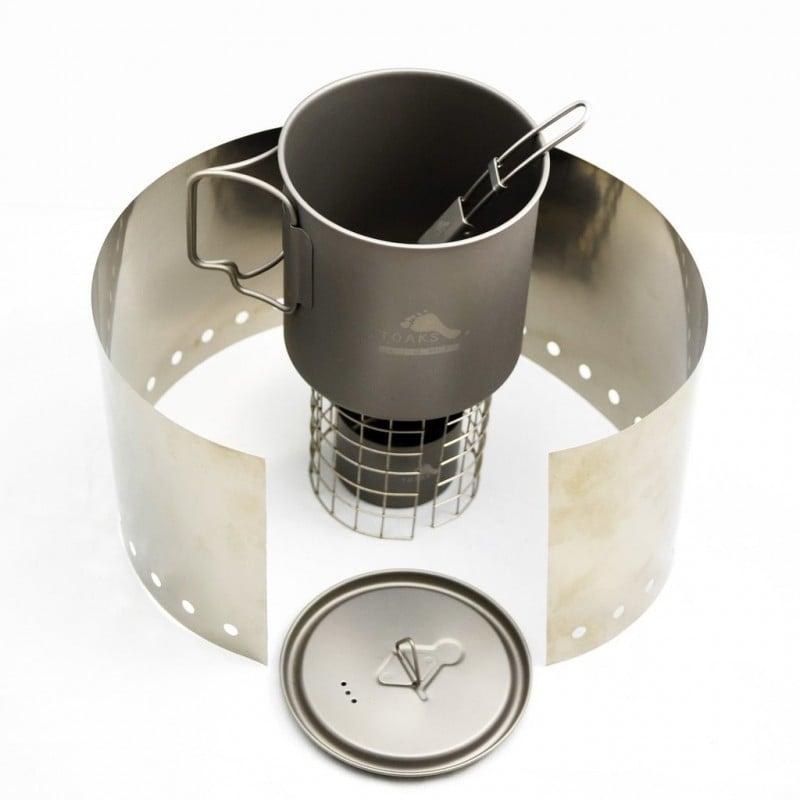 Toaks Ultralight Titanium Cook System 02 - ultraleichte 165 Gramm Gesamtgewicht