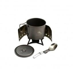Toaks Ultralight Titanium Cook System CS01 zur Verwendung mit Trockenbrennstoff