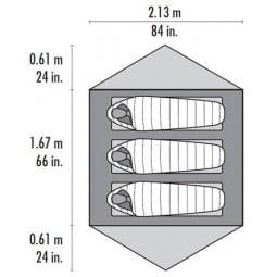 MSR Carbon Reflex 3 Abmessungen Innenzelt