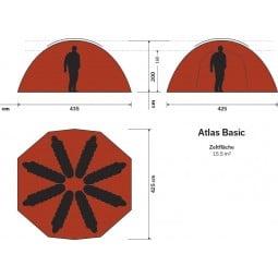 Hilleberg Atlas Basic Zelt Abmessungen
