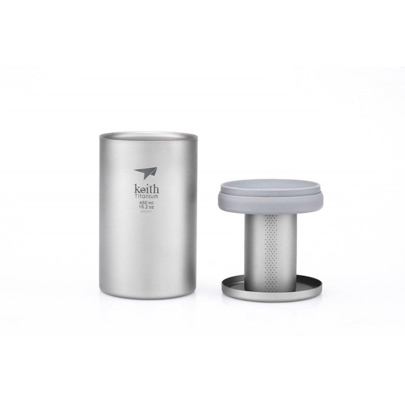 Keith Titanium Teebecher mit Teefilter