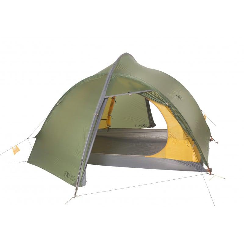 Exped Orion 3 UL Zelt mit geöffneten Türen