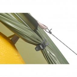 Exped Orion 3 UL Zelt Detail Abspannpunkt und Türöffnung Außenzelt