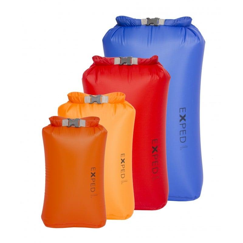 Exped Fold Drybag UL 4 Pack bestehend aus den Größen XS bis L