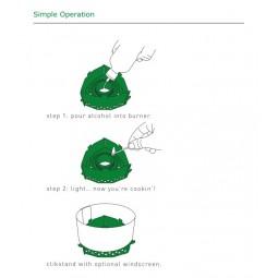 Clikstand T-2G Kocherstand - simple Handhabung
