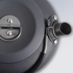 Esbit Aluminium Kessel Detailbild mit Ausguss