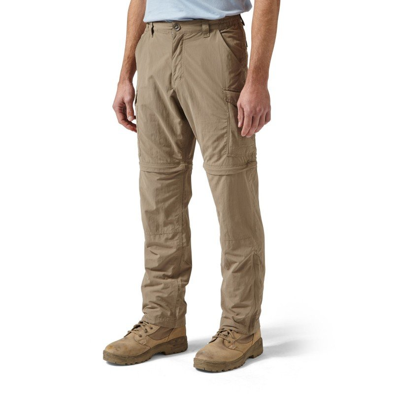 Craghoppers NosiLife Convertible Trousers Vorderansicht in der Farbe Beige