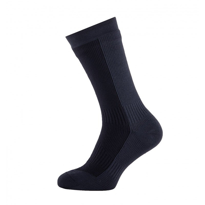 SealSkinz Hiking Mid Mid Socke Vollansicht in der Farbe Black/Anthracite