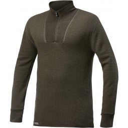 Woolpower Turtleneck 200 Unisex in einem schicken Pine Green