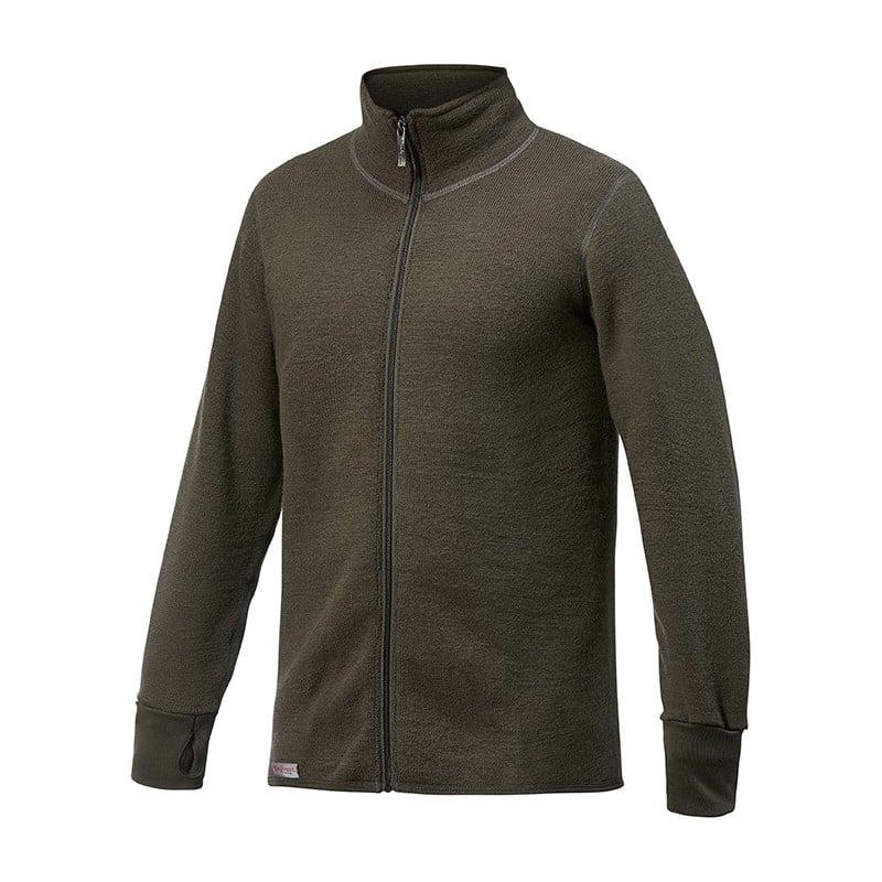 Woolpower Full Zip Jacket 600 in einem taktischem Grün