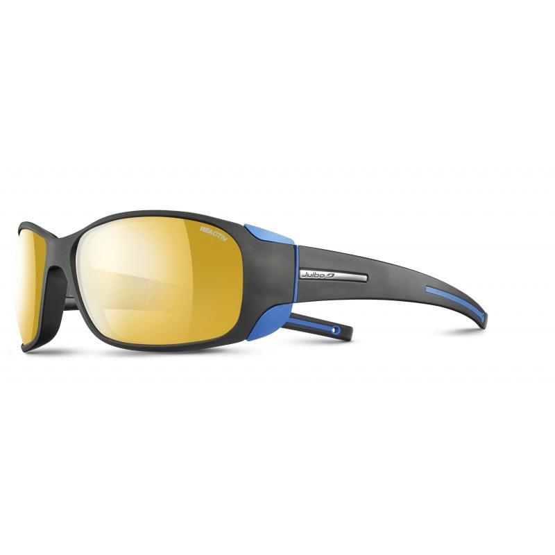 Julbo Montebianco Sonnenbrille - Schwarz/Blau - J4153122 - mit Reactiv Performance Glas Kat. 2 - 4