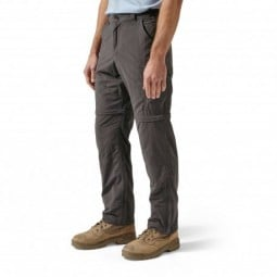 Craghoppers NosiLife Convertible Trousers Vorderansicht in der Farbe Black Pepper