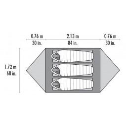 MSR Mutha Hubba NX Zelt Abmessungen Liegefläche