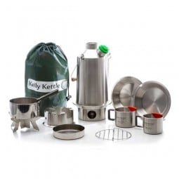 Kelly Kettle Ultimate Base Camp Kit Edelstahl