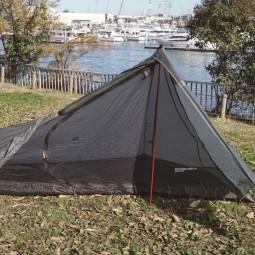Evernew Collapsible Carbon Tent Pole Beispiel Einsatz