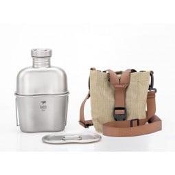 Keith Titanium Cantene Feldflasche mit Packsack
