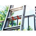 Fixplus Spannband 46 cm an Leiter befestigt