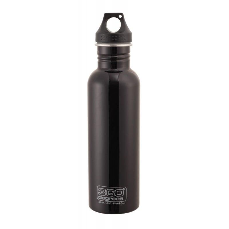 360 Degrees Stainless Drink Bottle 750 ml schwarz
