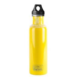360 Degrees Stainless Drink Bottle 750 ml gelb