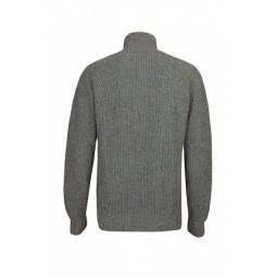 Blue LOOP Essential Everyday Zip Sweater Rückseite