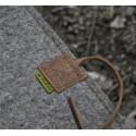 Waldkauz Sitzfilz Durus Detailansicht Verschluss mit Band