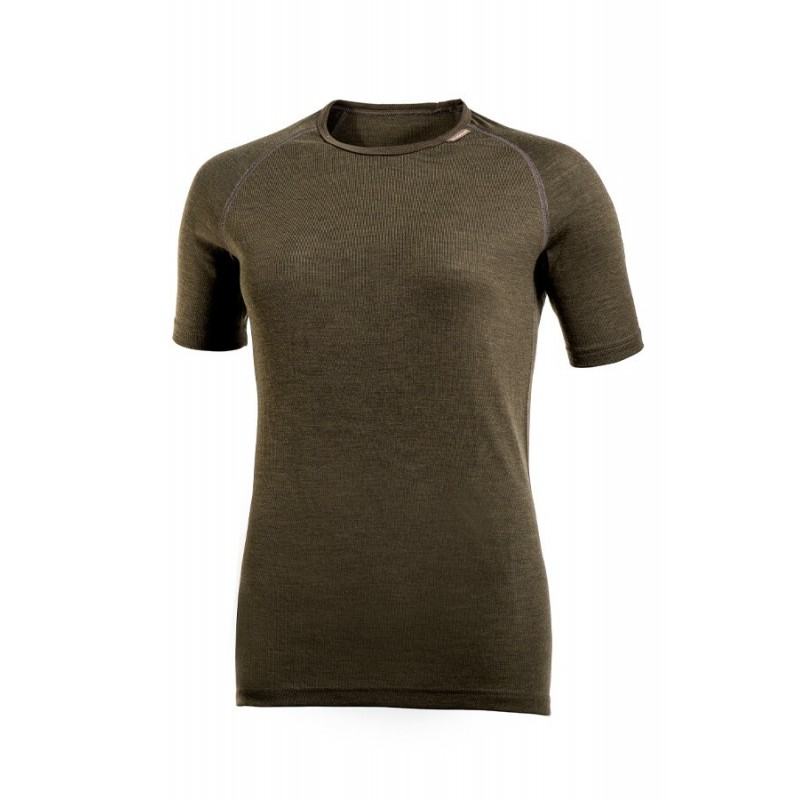 Woolpower Lite T-Shirt Unisex oliv weibliches Model