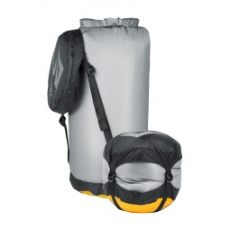 Sea to Summit eVent Ultra Sil Compression Dry Sack Small komprimiert und normal
