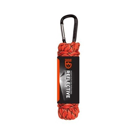 GearAid Paracord 550 Orange reflektierend 9 m mit Karabiner