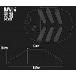 Savotta Hawu 4 Extension Piece Maße und Schema mit anderen Bauteilen