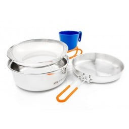 GSI Glacier Stainless 1 Person Mess Kit