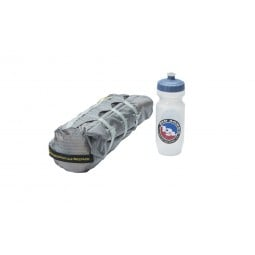 Fly Creek HV UL2 Bikepack Zelt Packmaß mit Wasserflasche verglichen