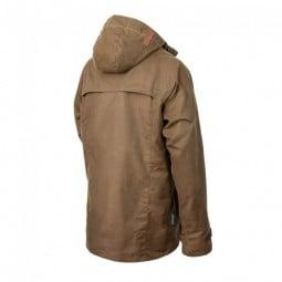 Steinkauz Wachsjacke Regensegen, hinten länger geschnitten für mehr Wetterschutz