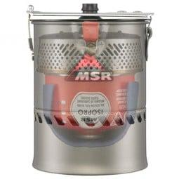 MSR Reactor Kochsystem 1l Beispielbild Packmaß mit Kartusche innen