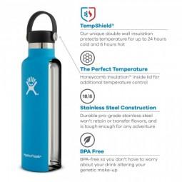 Hydro Flask 18oz Aufbau Flasche und Deckel