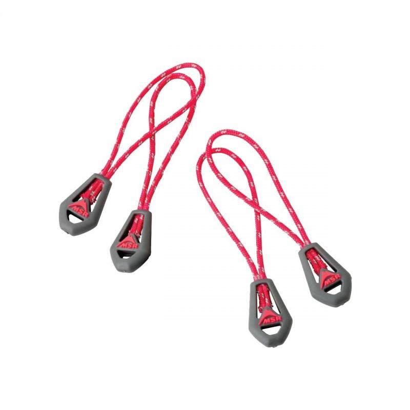 MSR Fluoreszierende Reißverschlusszüge - Universal Zipper Pulls, reflektierend, im 4er Pack