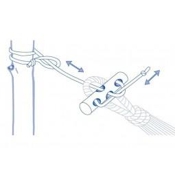 Amazonas Ultralight Microrope Hängemattenaufhängung - AZ-3027000 - Schema Anbringung und Ablängung