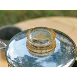 Stainless Coffee Percolator transparenter Deckelgriff